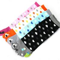 Buy cheap Custom logo, design five toe animal girl tube sock from wholesalers
