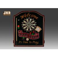 Buy cheap Antique Dart Cabinet Set Decorative Wooden Cabinet MDF Wall Hanging Dart Board from wholesalers