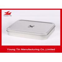 Buy cheap Empty Rectangle Mini Tin Box Hinged Lid from wholesalers
