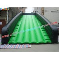 Buy cheap Green Color Wide Long Commercial grade 0.55mm PVC tarpaulin Inflatable Slide for rent from wholesalers