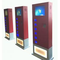 Buy cheap Red CRS free standing cell phone charging kiosk with 14 e-lock charging box from wholesalers
