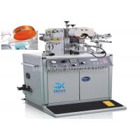 Buy cheap Irregular Caps Semi - Automatic Hot Foil Plastic Stamping Machine 0.6MPa Compressed Air product