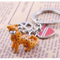 Buy cheap enamel finished unique metal arts and crafts keychains for kids from wholesalers