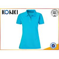 Buy cheap Trendy Ladies Custom Polo Shirt , White Slim Fit Polo Shirts Uniform from wholesalers
