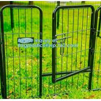 Buy cheap Aluminum simple easily assembled Big single-door large steel dog animal cage, Puppy Cage 8 Panel Metal Fence Run Garden from wholesalers