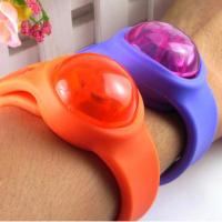 led silicone wrist band with button, flash bracelet;