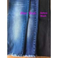 Buy cheap Super Soft Stretch Denim Fabric 10oz Lady Skinny Pants Indigo Color W82731 For Jeans from wholesalers