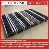 Buy cheap Aluminum frame heavy duty floor matting carpet infill Hotel Carpet Shopping Mall Entrance Matting from wholesalers