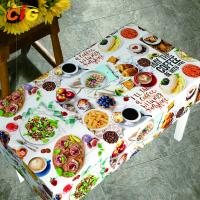 Buy cheap Waterproof Anti Mildew Printing PVC Table Cloth With Nonwoven Backing from wholesalers
