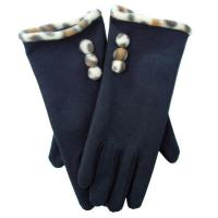 Buy cheap Black Warmful and comfortable leather S/M/L Fashion Leather Glove for men from wholesalers