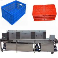 Buy cheap Electric Vegetable Basket Washing Machine , Automatic Plastic Tray Cleaning Machine from wholesalers