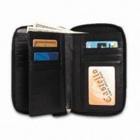 Buy cheap Women's Medium Zip-Around Wallet, Made of Korean Nappa Leather, Available in Black from wholesalers