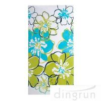 Buy cheap Premium Cotton Custom Printed Beach Towels Colorful Flower OEM Available from wholesalers