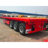 Buy cheap Semi Flatbed Container Trailer 40 Ft Gooseneck Trailer Large Loading Capacity from wholesalers