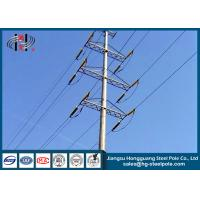 Buy cheap 110 KV Octagonal Power Transmission Poles with Hot dip Galvanization from wholesalers