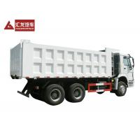 Buy cheap White Color Heavy Duty Dump Truck 6 * 4 Tipper Truck HOWO For Mining And City from wholesalers