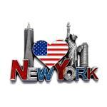 Buy cheap 3D Metal Fridge Magnet New York Design Tourist Souvenir from wholesalers