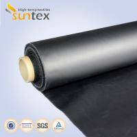 Buy cheap Neoprene Coated Fiberglass Chemical Resistant Fabric 0.5mm Black Color Weather Resistance from wholesalers