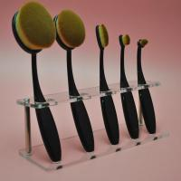 Buy cheap Clear Acrylic 5pcs Brush Foundation Makeup Brushes Holder Shelf Display Stand from wholesalers