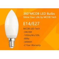 Buy cheap MCOB 4W Dimmable C35 E14 LED Bulbs, 40W Incandescent Bulbs Equivalent, from wholesalers