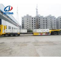 Buy cheap 17m length 2.5m width  Extendable Steel Low bed semi trailer machinery transportations from wholesalers