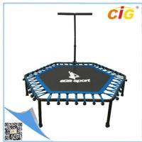 Buy cheap Small Outdoor Furnitures , Steel Frame Mini Trampoline For Kids With Blue Color product