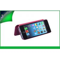 Buy cheap Durable Red Apple Iphone Leather Cases , Iphone 4 Leather Cover Book Type from wholesalers