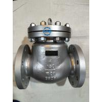 Buy cheap Silver Surface Cast Steel Swing Check Valve 2 - 48 Size ANSI B16.5 Flange Connection from wholesalers
