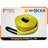 Buy cheap 3 20000lbs Yellow Heavy Duty Tow Straps Recovery Winch Strap with Reinforced Loop from wholesalers