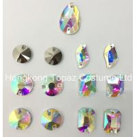 Buy cheap Mixed Shapes Clear Ab Sew-on Flat Back Glass Rhinestones for evening dress from wholesalers