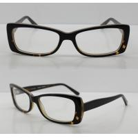 Buy cheap Rectangle Black / Clear Acetate Mens Eyeglasses Frames For Promotion from wholesalers