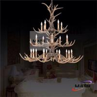 Buy cheap Retro Resin Chandelier Three Layer for Hotel Lighting Project LED E14 Bulb MS-P2017 from wholesalers