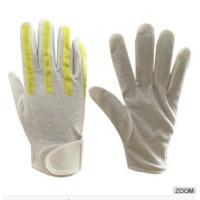 Buy cheap SAFETY Brite Strike Traffic police Reflective Gloves White Cotton pvc dots Gloves , Reflec from wholesalers