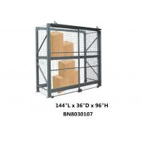 Buy cheap Visible / Ventilated Wire Mesh Pallet Cages , 8 Gauge Wire Shelving Security Cage from wholesalers