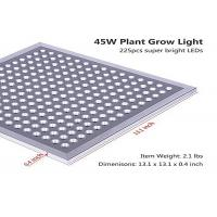 Buy cheap 45W Indoor LED Grow Light / Full Spectrum Grow Lights IP65 Energy Saving CE / ROHS from wholesalers