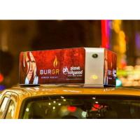 Buy cheap IP65 P4 Taxi Top Full Color Car Led Sign Outdoor Advertising Screens 1/16 Scan from wholesalers