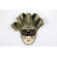 Buy cheap Hand Made Venetian Jester Mask For Masquerade Ball 17 Inch Face Mask from wholesalers