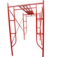 Buy cheap Red Painted Steel H Frame Scaffolding System , Professional Tower Scaffold from wholesalers