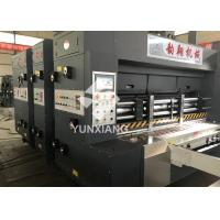 Buy cheap YX-1224 3 Color Flexo Printer Slotter Machine 80pcs/min With Auto Stacker from wholesalers