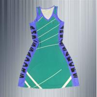 Buy cheap custom cheap design netball uniform high quality polyester spandex/lycra professional club sports netball dress from wholesalers