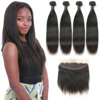 Buy cheap Soft 9A Indian Human Hair Bundles , Virgin Indian Hair Closures Bleached Knots from wholesalers