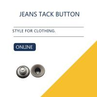 Buy cheap Black Antique Silver Custom Jeans Tack Button Leather Clothing Bulk Trims from wholesalers
