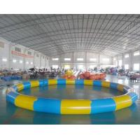 Buy cheap Round Inflatable PVC Swimming Pool , 3.5M*3.5M PVC Inflatable Pool For Beaches from wholesalers