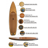 Buy cheap Wood Grain Fusion Inflatable Bamboo Race Sup Paddleboard from wholesalers