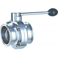 Buy cheap Manual 1.5 Inch Butterfly Valve Stainless Steel  Clamped  Pull 3 ~ 4 Handle Position from wholesalers