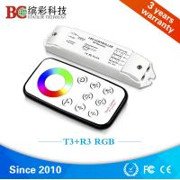 Buy cheap T3+R3 Mini RF wireless RGB LED controller DC 12V 24V Mini led rgb controller with touch remote control from wholesalers