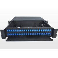 Buy cheap Sliding Type 2U Fiber Optic Patch Panel Durable SC Optical Fiber Distribution Frame from wholesalers