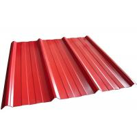 Buy cheap Coloured Corrugated Roofing Sheets , Powder Coated Corrugated Metal Roofing Sheets from wholesalers