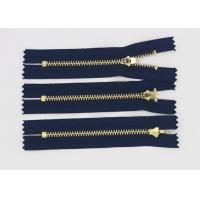 Buy cheap Double Top Stops 4 Inch Jean Zipper Customized , Raw Brass Black Open Ended Zip from wholesalers