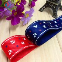 Buy cheap Fashion polyester solid color Custom Printed Grosgrain Ribbon for Chrismas decorations from wholesalers